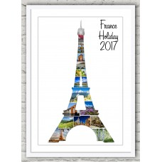 Eiffel Tower Frame Print (wh/wh)