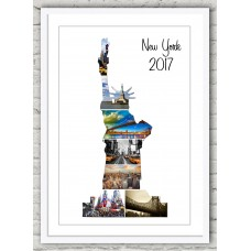 Statue of Liberty Frame Print (wh/wh)