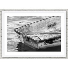 Rowing Boat Back white frame