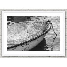 Rowing Boat Front white frame
