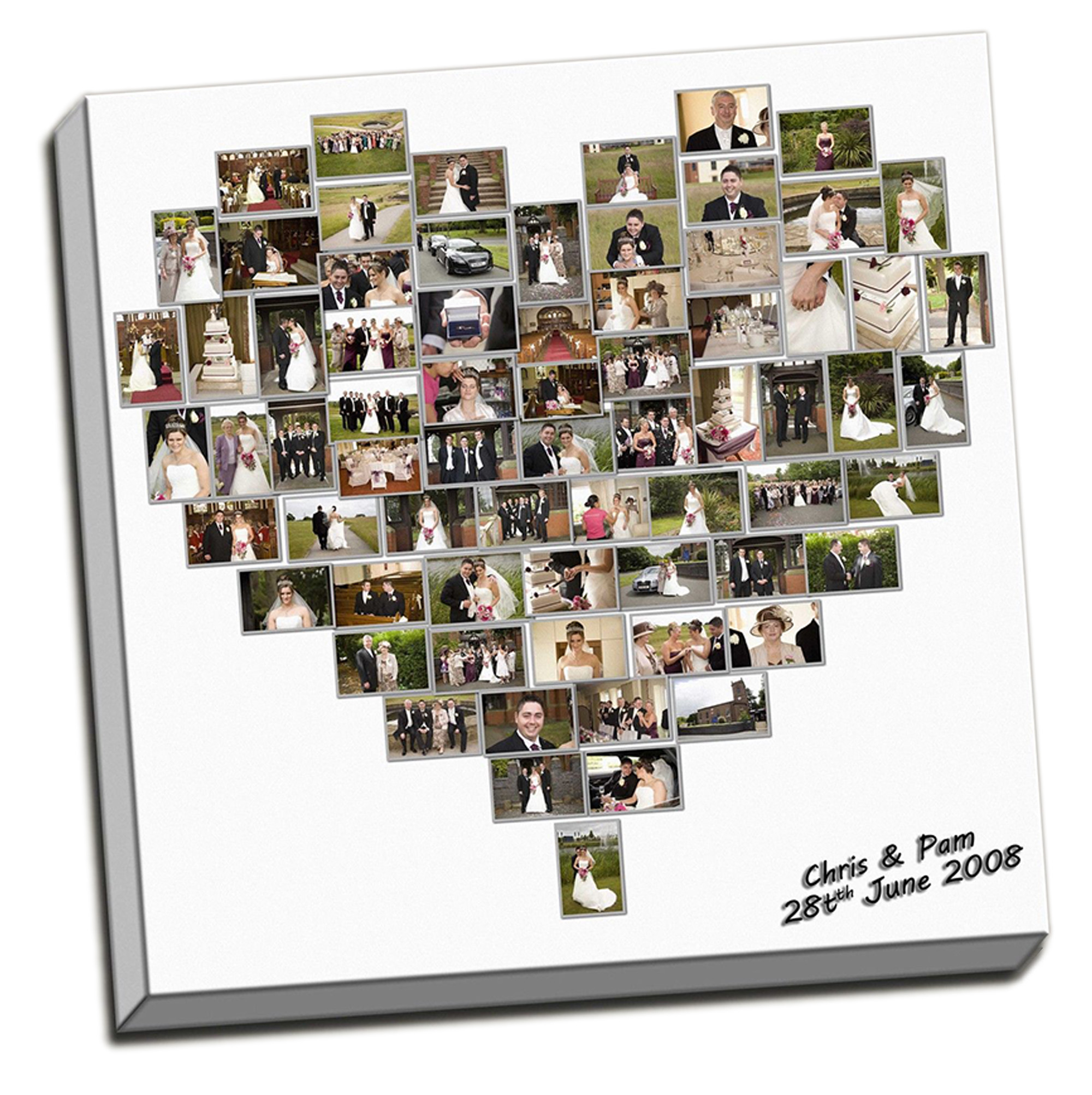 stunning personalised heart shape up to extra large 30 x30 collage